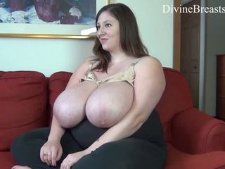 Huge lactating BBW tits