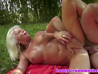 Chubby GILF Screwed by Her Lover Outdoors: Free HD Porn 6a