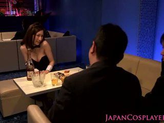 Japanese cosplay bunnysuit titfuck