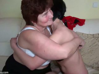 Older women fucking with younger women and licking