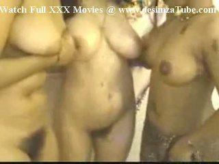 Three Indian Women Boobs Fighting Mujra