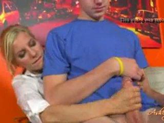 Head Mistress Punishes Bad Boy
