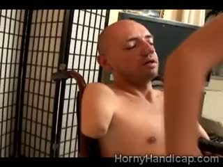 Olah Zsofia Goes Crazy Mounting A Horny Amputee Man