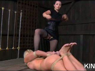 熱 女孩 gets tied 硬