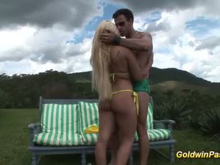 Brazilian babes first anal sex in nature