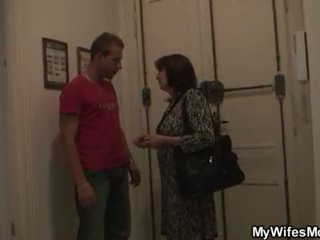 Her old mom and boyfriend taboo sex