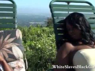 Submissive Guy Licking Ebony Feet