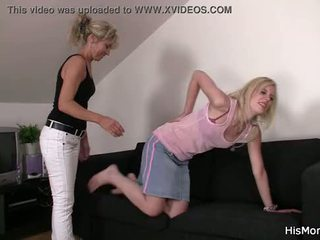 Mom teaching teen lezzy tricks