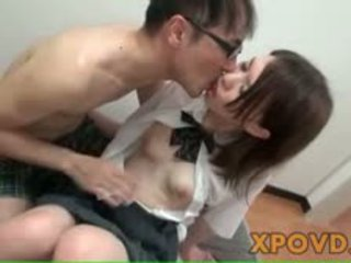 Young Japanese Schoolgirl Close Up Pussy Fuck