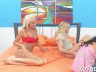 Naughty Pornstars Marlie Moore, Eden Adams, And Rachel Starr