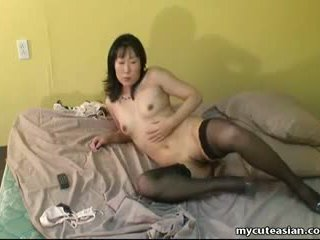 Asian Mature Woman in Lust Fingers Her Wet Pussy: Porn a7