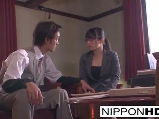 japonez miniatură, ideal sărutat vid, real ochelari porno