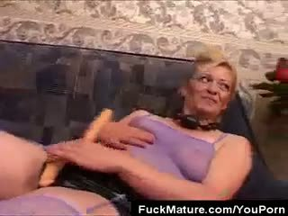 Mature Honey Gets It On With Four!