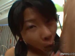 Haruka Aida dick and ball play with full blowjob