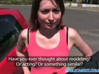 PublicAgent Brunette with no panties fucked in the sunshine