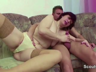Step-mom Help Him to Lost Virgin and get His First Fuck