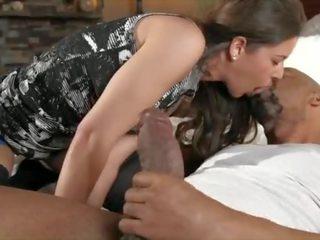 plezier brunette klem, orale seks video-, spuitende