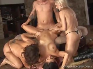 3 Horny Housewives Rock A Fat Cock!