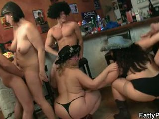 Big tits group party sex