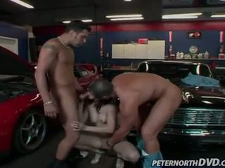 Sexy hot bitch Dominica Leoni feeds her mouth one cock at a time and likes it