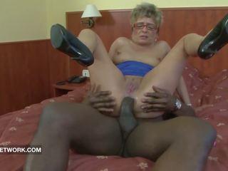 grannies, forfall, sort og ebony, anal