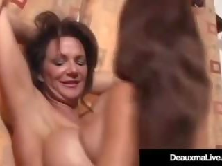 brunette klem, nominale grote tieten kanaal, lesbisch thumbnail