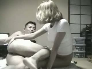 Korean Guy Fucks Blond Stewardess