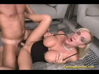 Casting busty bunny fucking