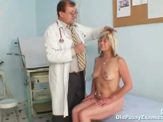 Nada visits her gyno doctor for mature pussy specu