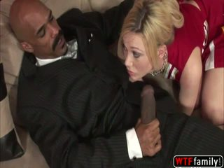 School girl Samantha Sin moans loud as she is getting fucked by her st