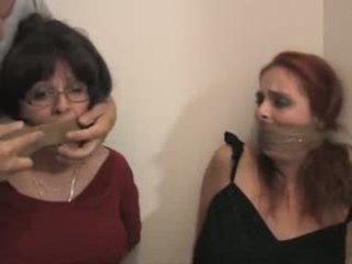 Ashley Graham and Vanessa bound and gagged