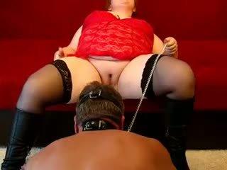 German Fat Mistress Fucks Guy Wi...