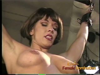 Foxy Bint gets Suspended from the Ceiling and Whipped
