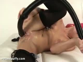 House Maid Using Unusual Sex Toy