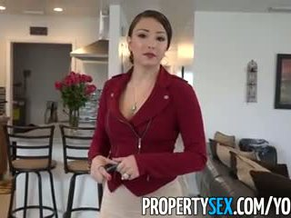 Propertysex - grande culo latina real estate agent engañada en amateur sexo vídeo