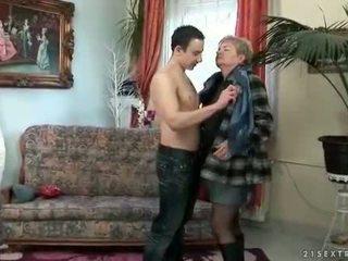 groot zuigen, vol oud porno, heet grootmoeder video-