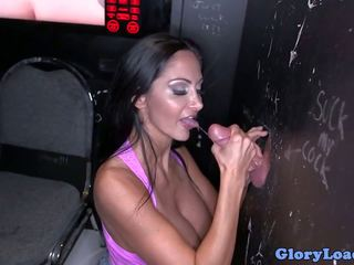 Bigtitted Gloryhole MILF Fucks and Cocksucks: Free Porn 66