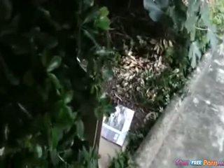 Outdoor Garden Couple Fuck Show