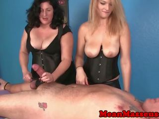 CBT Masseuses Amber and Elaine Dominating: Free HD Porn 69