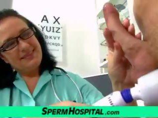 Naughty MILF Nurse Danielle Skinny Dude Handjob: Porn 9f