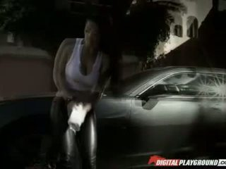 Carwash babe Katrina Jade pussy creampie