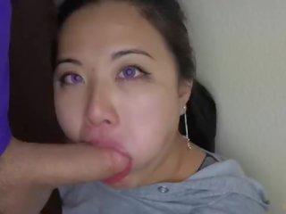 vers deepthroat neuken, nominale slordig gepost, facefuck porno