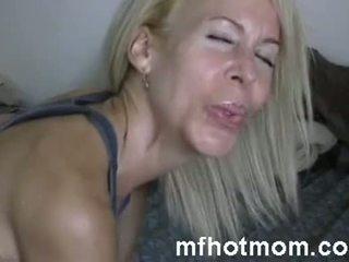 pornó, érett, anya