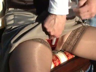 grote tieten vid, kwaliteit fetisch, satijn