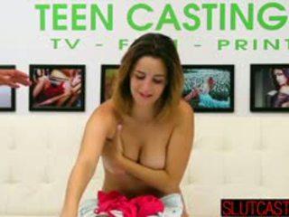 brunette fresh, nice casting, anal