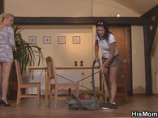 Hot Czech Mom and Teen Lesbian Action, HD Porn f6