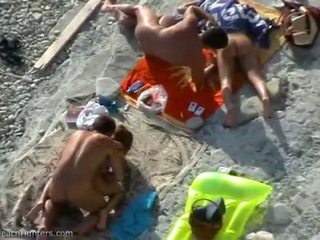Beach Cfnm Couple Fucks Right By Another Couple