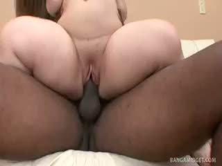 Midget Mini Mya Takes On A Black Cock