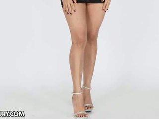 meest hoge hakken tube, nominale voet fetish klem, lange benen
