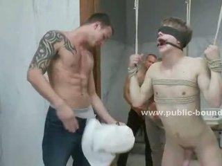 een kerel, groepsseks klem, zien homo- seks